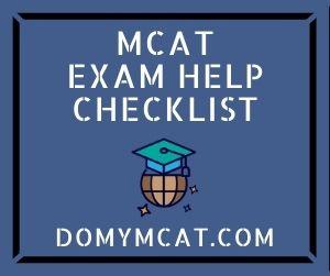 MCAT Exam Help Checklist
